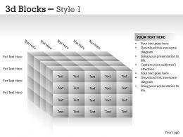 3D Blocks Style 1 PPT 21