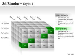 3D Blocks Style 1 PPT 22