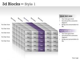 3D Blocks Style 1 PPT 23