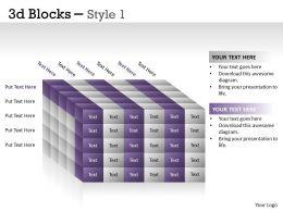 3D Blocks Style 1 PPT 24