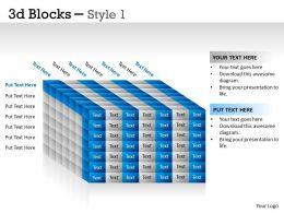 3D Blocks Style 1 PPT 27