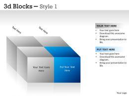 3D Blocks Style 1 PPT 2