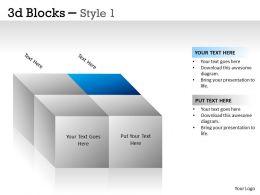 3D Blocks Style 1 PPT 3