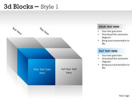 3D Blocks Style 1 PPT 5