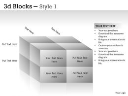 3D Blocks Style 1 PPT 6