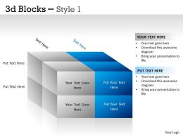 3D Blocks Style 1 PPT 7