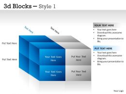 3D Blocks Style 1 PPT 8