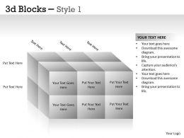 3D Blocks Style 1 PPT 9