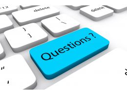 3d Blue Colored Button With Word Questions Stock Photo