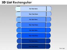 3D Blue List Rectangular Style 10