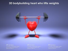 3d Bodybuilding Heart Who Lifts Weights