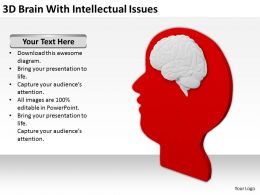 3D Brain With Intellectual Issues Ppt Graphics Icons Powerpoin