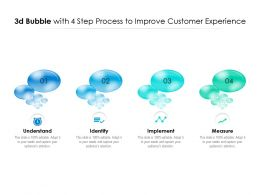 3d Bubble With 4 Step Process To Improve Customer Experience