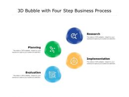3d Bubble With Four Step Business Process