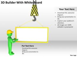 3D Builder With White Board Ppt Graphics Icons Powerpoint