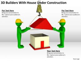 3D Builders With House Under Construction Ppt Graphics Icons Powerpoint