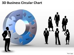 3D Business Circular Chart diagram Powerpoint templates 1