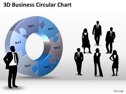 3D Business Circular Chart Powerpoint templates 0812