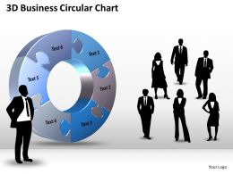 3D Business Circular Chart Powerpoint templates ppt presentation slides 0812