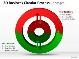 3D Business Circular diagram Process 2