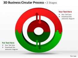 3d business circular process 2 stages powerpoint templates graphics slides 0712