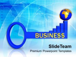 3d Business Global Success Key PowerPoint Templates PPT Themes And Graphics 0213