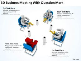 3d Business Meeting With Question Mark Ppt Graphics Icons