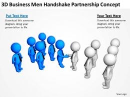 3D Business Men Handshake Partnership Concept Ppt Graphics Icons Powerpoint