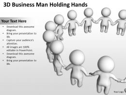 3D Business Men Holding Hands Ppt Graphics Icons