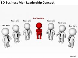 3d Business Men Leadership Concept Ppt Graphics Icons