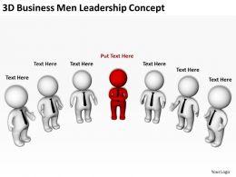 3d Business Men Leadership Concept Ppt Graphics Icons