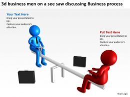 3d business men on a see saw discussing Business process Ppt Graphic Icon
