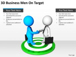 3d Business Men On Target Ppt Graphics Icons