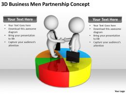 3D Business Men Partnership Concept Ppt Graphics Icons Powerpoint