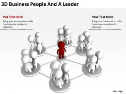 3D Business People And A Leader Ppt Graphics Icons Powerpoint