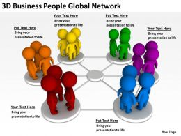 3D Business People Global Network Ppt Graphics Icons Powerpoint
