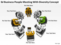 3d Business People Meeting With Diversity Concept Ppt Graphics Icons
