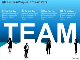 3d Business Peoples For Teamwork Powerpoint Template