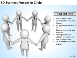 3D Business Persons In Circle Ppt Graphics Icons Powerpoint