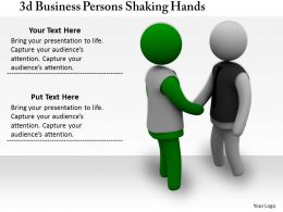 3d Business Persons Shaking Hands Ppt Graphics Icons Powerpoint