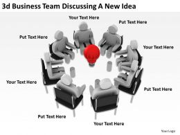 3d Business Team Discussing A New Idea Ppt Graphics Icons