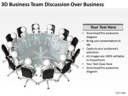 3D Business Team Discussion Over Business Ppt Graphics Icons Powerpoint