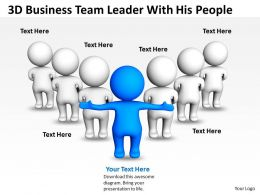 3D Business Team Leader With His People Ppt Graphics Icons