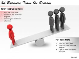 3d Business Team On Seesaw Ppt Graphics Icons Powerpoint