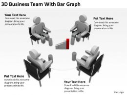 3D Business Team With Bar Graph Ppt Graphics Icons Powerpoint