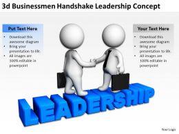 3D Businessmen Handshake Leadership Concept Ppt Graphics Icons Powerpoint