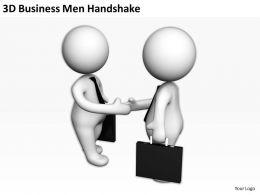 3D Businessmen Handshake Ppt Graphics Icons