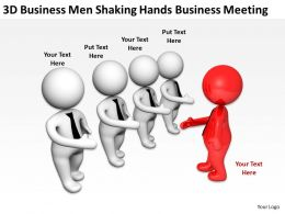 3D BusinessMen Shaking Hands Business Meeting Ppt Graphics Icons Powerpoin