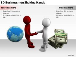 3D Businessmen Shaking Hands Ppt Graphics Icons Powerpoint