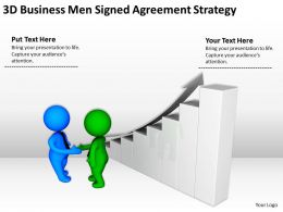 3D BusinessMen Signed Agreement Strategy Ppt Graphics Icons Powerpoin